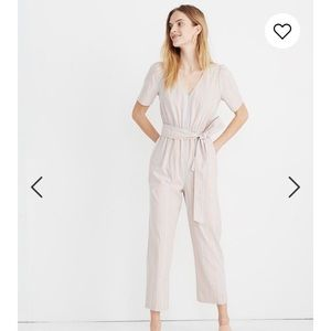 NWT Madewell - Puff Sleeve Tapered Jumpsuit